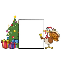 Chirstmas turkey cartoon vector image vector image