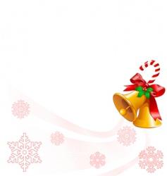 Christmas bells design vector image