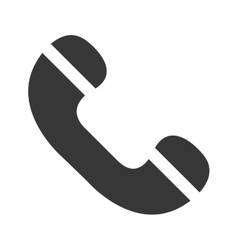 Classic or antique phone line icon vector