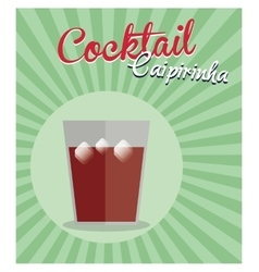 cocktail caipirinha vintage background vector image