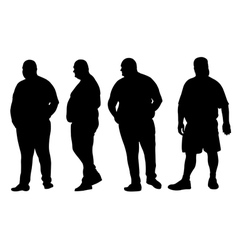 fat men vector image vector image