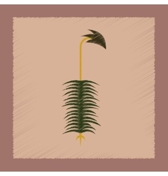 flat shading style icon nature plant Polytrichum vector image vector image