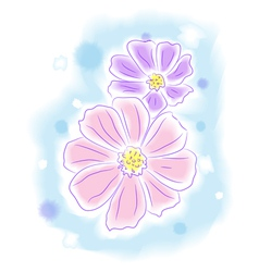 Flowers water color style painting vector image vector image