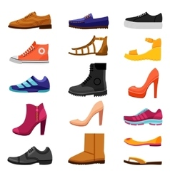 Footwear Colored Icons Set vector image vector image