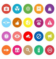 General healthcare flat icons on white background vector image
