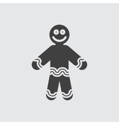 Ginger bread icon vector image