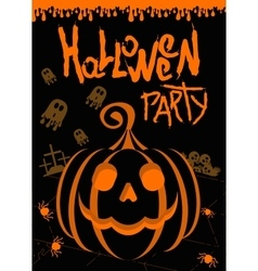 helloween party poster black vector image vector image