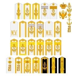 Insignia marine corps russia 1907-1917 year vector