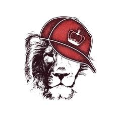 lion head hand drawn vector image vector image