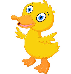 Little baby duck cartoon vector