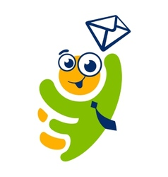 Mobile message man sign vector image