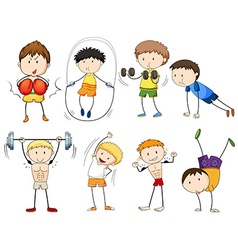People doing different types of sports vector image