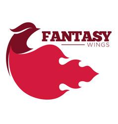 Phoenix bird or fantasy eagle logo template for vector