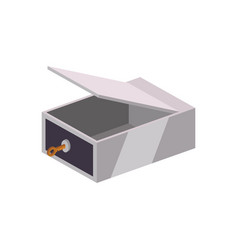 Safe deposit strongbox key empty vector