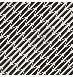 Seamless Black And White Diagonal ZigZag vector image
