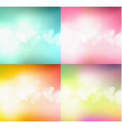 set of bokeh abstract light background vector image vector image