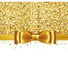 Shiny gold satin ribbon on white background vector image