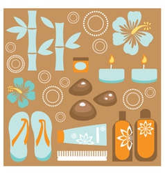 Spa set vector image vector image
