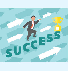 Success concept business vector