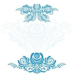 The set of elements russian ornaments gzhel vector
