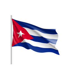 Waving flag of cuba vector