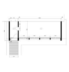Standard office empty template floor plans vector image
