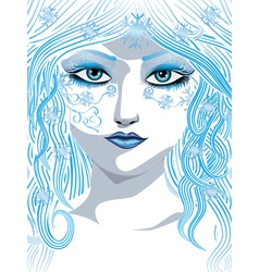 Blue winter girl vector