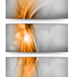 abstract three card orange vector image