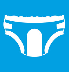 Adult diapers icon white vector
