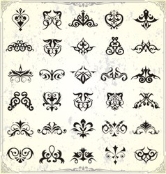 Classic shape elements vector