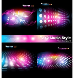 Music style background vector