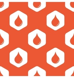 Orange hexagon water drop pattern vector