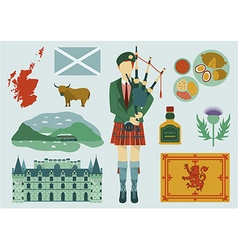 Scotland design elements vector