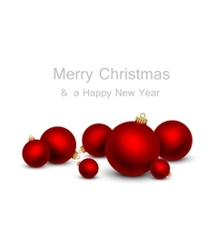 Christmas balls on a white background vector