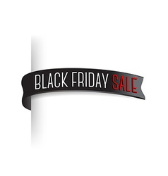 Black friday sale badge for page edge transparent vector