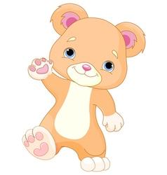 Teddy Bear Walks vector image