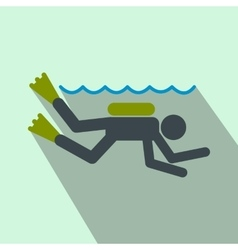 Diving flat icon vector