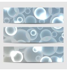 A set of bannersAbstract circles glow vector image