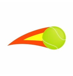 Flaming tennis ball icon isometric 3d style vector