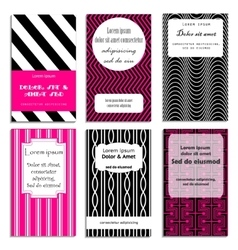set of greeting cards design vector image