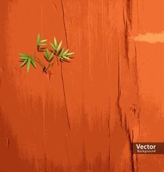 Leaf on orange wallpaper vector
