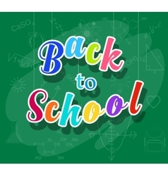 Back to school colorful message vector