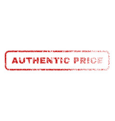 Authentic price rubber stamp vector