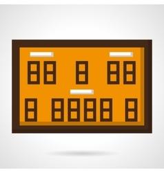 Basketball scoreboard flat color icon vector