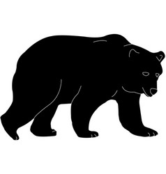 bear silhouette vector image