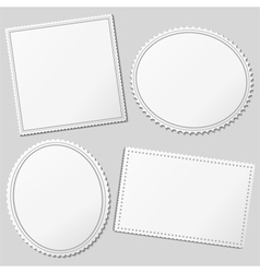blank postage stamps vector image vector image