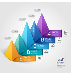 Business 3d triangle staircase diagram vector