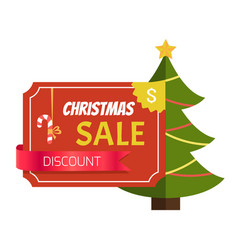 Christmas sale discount label vector