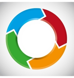 Colorful circular arrow chart vector