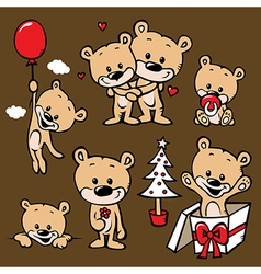 cute bear family cartoon vector image vector image